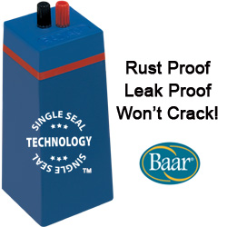 Single Seal Technology is rust proof, leak proof, and won't crack!