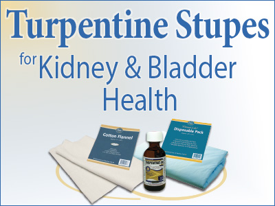 Turpentine Stupes for Kidney and Bladder